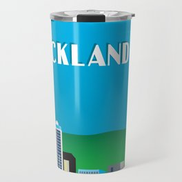 Auckland, New Zealand - Skyline Illustration by Loose Petals Travel Mug