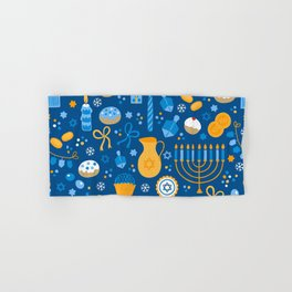 Hanukkah Happy Holidays Pattern Hand & Bath Towel