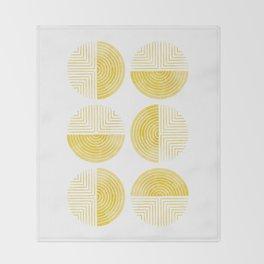 Labyrinth - Honey Throw Blanket