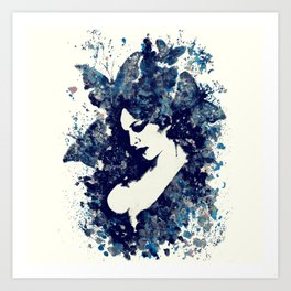 A Hell To Pay: Blue Art Print