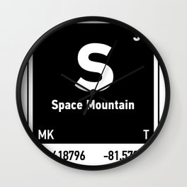 elements of S (Space Mountain) Wall Clock