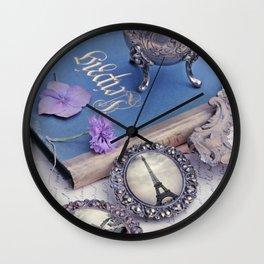 Vintage Blue Paris Wall Clock