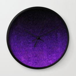 Purple & Black Glitter Gradient Wall Clock