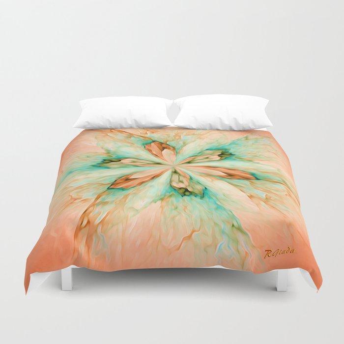 Marble flower Duvet Cover