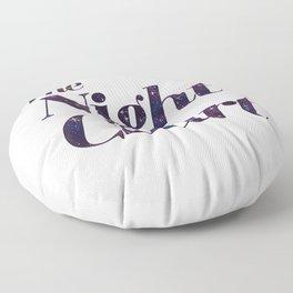 The Night Court Galaxy Design White Floor Pillow