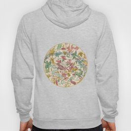 Aries Antique Astrology Zodiac Pictorial Map Hoody