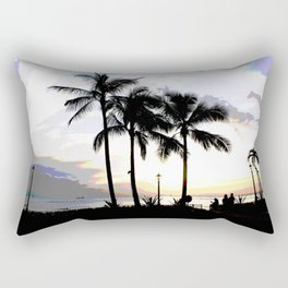 Three Palms in Paradise Rectangular Pillow