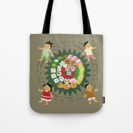 Indonesian Marketplace Nibbles Tote Bag