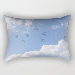 Window Curtains - Flying Away Rectangular Pillow