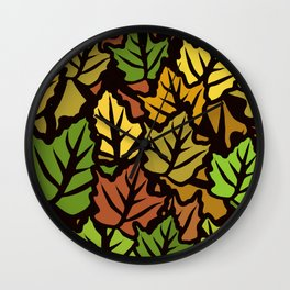 overlapping autumn Wall Clock