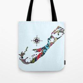 Bermuda Map Tote Bag