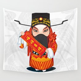 Beijing Opera Character FuXing Wall Tapestry