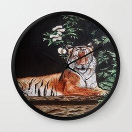Sitting Magestic Tiger Nature Wall Clock