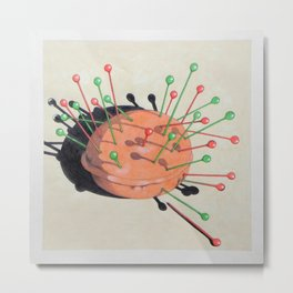 pincushion n. 1 Metal Print