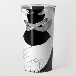 Friendship and enmity - Ink artwork Travel Mug