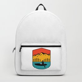 Distressed Disc Golf Frolf Frisbee Player Retro Backpack