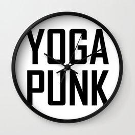 yoga punk Wall Clock