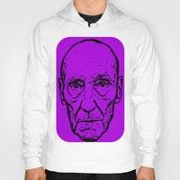 literature Hoodies featuring Outlaws of Literature (William S. Burroughs) by Silvio Ledbetter