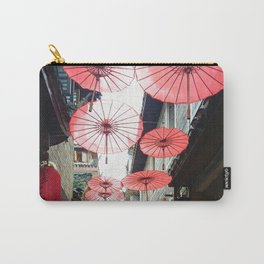 Asia in Red Carry-All Pouch
