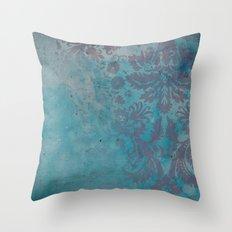 Grunge Damask Throw Pillow