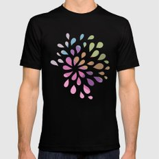 Colourful drops Black MEDIUM Mens Fitted Tee