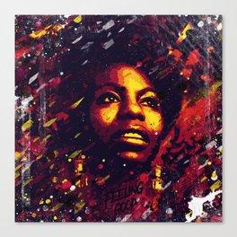 Nina Simone | Pop art | Digital portrait Canvas Print
