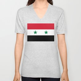 Flag of Syria, High Quality image Unisex V-Neck