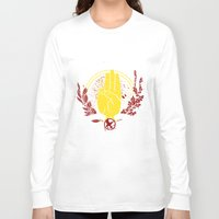 mockingjay Long Sleeve T-shirts featuring The Mockingjay by 126pixels