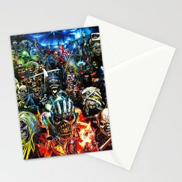 iron maiden tour 2020 2021 hammer oneng Stationery Cards