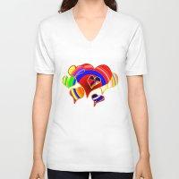 valentine V-neck T-shirts featuring Valentine  by JT Digital Art