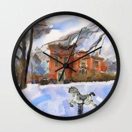 Spring Horse Wall Clock