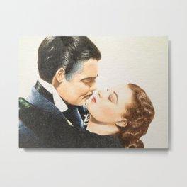 Rhett Butler & Scarlett O'Hara Metal Print