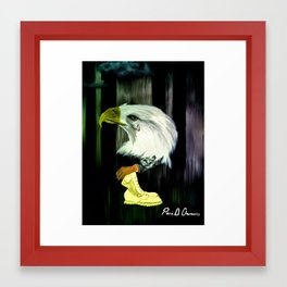 American Eagle Cries Framed Art Print