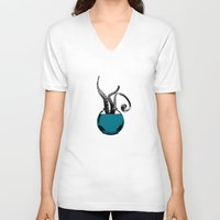 squid V-neck T-shirts featuring Squid by Inept