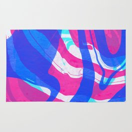 Watercolor abstract painting Rug