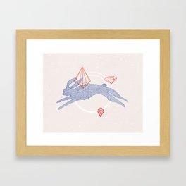 GHOST RABBIT Framed Art Print