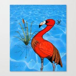 Flamingo Strut Canvas Print