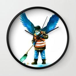 street sweeper Wall Clock