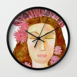 Flora the Goddess of Spring and Renewal Wall Clock