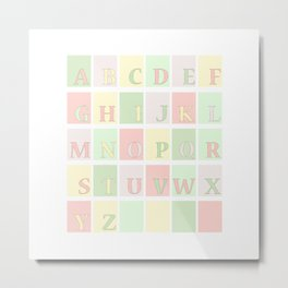 Nursery Alphabet Metal Print