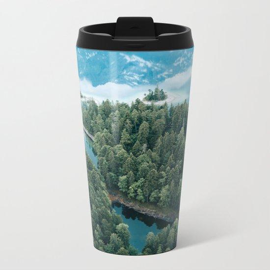 Mountain in a Lake - Landscape Photography Metal Travel Mug
