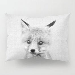 Baby Fox - Black & White Pillow Sham