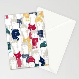 Happy llamas Christmas choir Stationery Cards