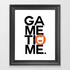 Gametime. Framed Art Print
