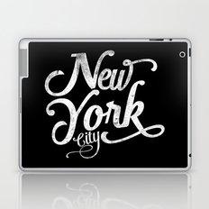 New York City vintage typography Laptop & iPad Skin