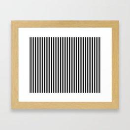 Black & White Vertical Stripes Framed Art Print
