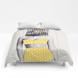 Bird Brained Babe Comforters
