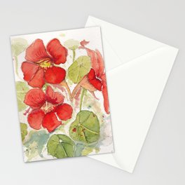 Watercolour Nasturtiums Stationery Cards