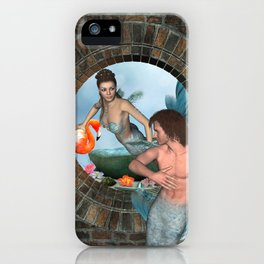 Mermaid Merman Love Fantaseas iPhone Case
