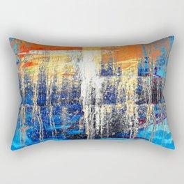 Golden Dawn, Abstract Landscape Art Rectangular Pillow